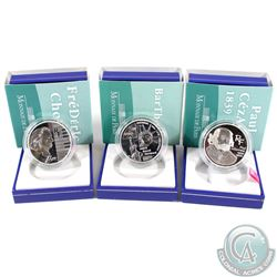 2004-2006 France- 1.5 Euro Monnaie de Paris Silver Proof Collection. You will receive 2004 Bartholdi