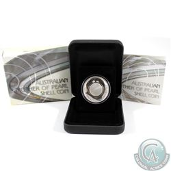 2015 Australia $1 White Mother of Pearl Shell Silver Proof (Tax Exempt).
