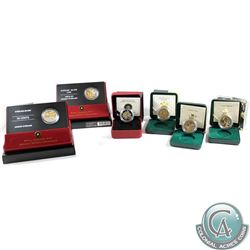 2002-2007 Canada 50-cent Canadian Floral Sterling Silver 6-coin set. You will receive the 2002 Golde