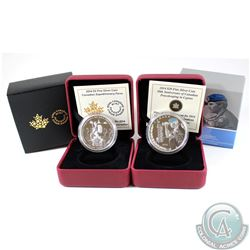 2014 Canada $20 Peacekeeping in Cyprus & 2014 $5 Canadian Expeditionary Force Fine Silver Coins (Tax