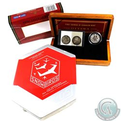 2008 Canada RCM 100th Anniversary Coin & Stamp Set (outer sleeve is torn) & 2006 Canada $5 Snowbirds