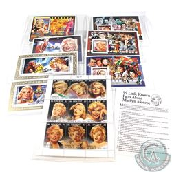 Estate lot of Marilyn Monroe Stamps. 16 pcs