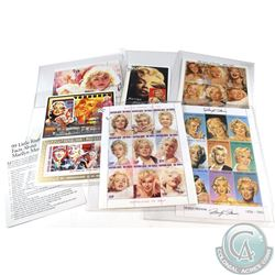 Estate lot of Marilyn Monroe Limited Edition Postage Stamps. 31 pcs pcs