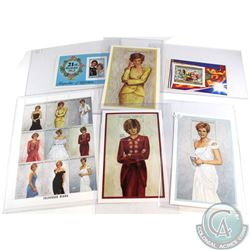 Estate lot of Princess Diana Limited Edition postage Stamps. Lot includes 1x plate block of 9 & 5x S