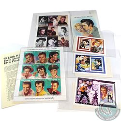 Estate lot of 22x Elvis Presley Limited Edition Stamps. Lot includes 2x plate block of 9x and 4x sin