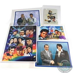 Estate lot of 15x Elvis Presley Limited Edition Stamps. Lot includes 1x plate block of 9x, 2x Stamp