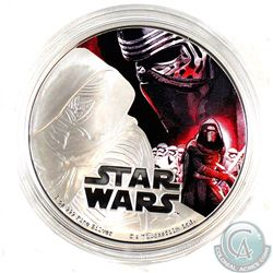 2016 Niue $2 Kylo Ren 1oz Fine Silver Proof Coin (Tax Exempt). Coin comes encapsulated.