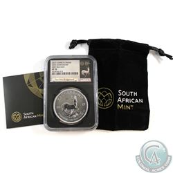 2017 South Africa 50th Anniversary Krugerrand NGC Certified SP-70; First releases(Tax Exempt)
