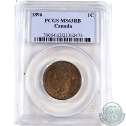 1896 Canada 1-cent PCGS Certified MS-63 Red/Brown