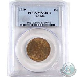 1919 Canada 1-cent PCGS Certified MS-64 Red/Brown