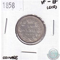1858 Canada 20-cent VF-EF (scratched)
