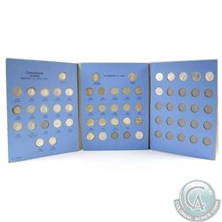Estate Lot 1937-1978 Canada 10-cent Coins in Vintage Blue Whitman Folder. You will receive 43 coins