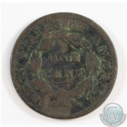 1834 USA Cent Small 8 Coronet Fine