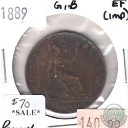 Great Britain 1889 Penny EF (impaired)