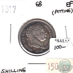 Great Britain 1817 Shilling Extra Fine (pitting)
