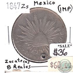 Mexico 1847-Zs Mexico Zacatecas 8 Reales (impaired)