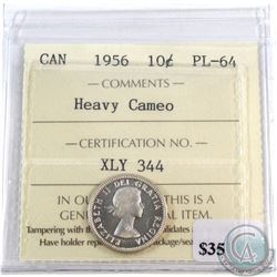 1956 Canada 10-cent ICCS Certified PL-64 Heavy Cameo