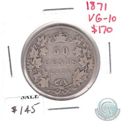 1871 Canada 50-cents VG-F (VG-10)