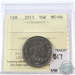 2013 Canada 50-cents ICCS Certified MS-66