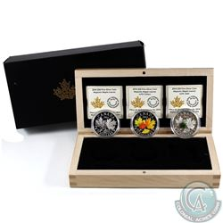 2014 Canada $20 Majestic Maple leaves  3-coin Set in Deluxe Display Case (TAX Exempt).