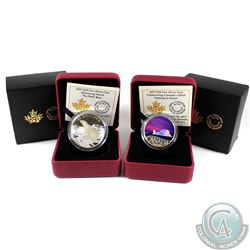 2017 Canada $10 Iceberg at Dawn & 2017 Canada $20 Glistening North - Polar Bear Fine Silver Coins (T