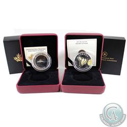 2013 Canada 50-cent Tiger Swallowtail & 2014 Canada 50-cent R.M.S Empress of Ireland Coin Set. 2pcs.