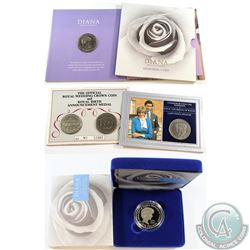 Lot of Princess Diana Themed Coins from the United Kingdom. You will receive 1997 Diana Memorial Coi