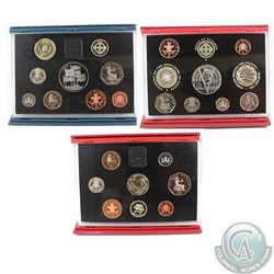 1995, 1996, 2001 United Kingdom Proof Coin Set Collection. Sets come with original mint packaging an