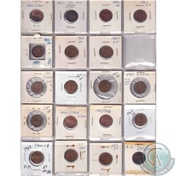 Estate lot of 45x 1962, 1965 & 1979 Canada Errors and Varieties 1-cent Collection. You will receive