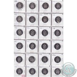 Estate lot of 24x 1970-2001 Canada Proof-like 50-cent Collection. Please view scan for dates.