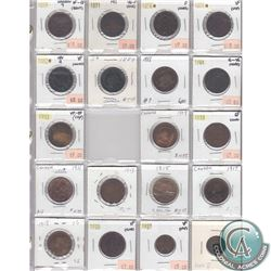 Estate Lot of 1859-1936 Canada 1-cent Collection. You will receive: 1859 Narrow 9, 1871 PEI, 1876H,