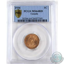 1936 Canada 1-cent PCGS Certified MS-64 Red/Brown