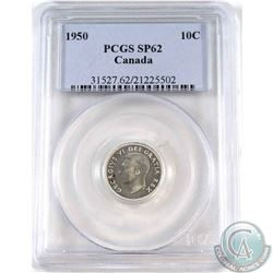1950 Canada 10-cent PCGS Certified SP-62