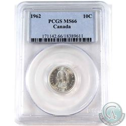 1962 Canada 10-cent PCGS Certified MS-66