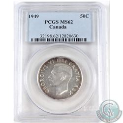 1949 Canada 50-cent PCGS Certified MS-62