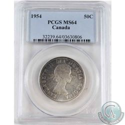 1954 Canada 50-cent PCGS Certified MS-64