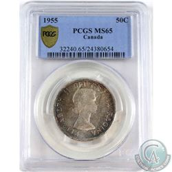 1955 Canada 50-cent PCGS Certified MS-65