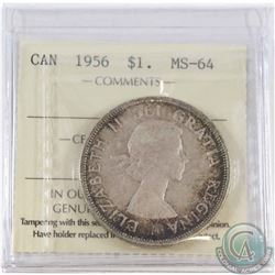 1956 Canada Silver Dollar ICCS Certified MS-64