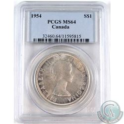1954 Canada Silver Dollar PCGS Certified MS-64