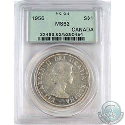 1956 Canada Silver Dollar PCGS Certified MS-62
