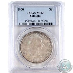 1960 Canada Silver Dollar PCGS Certified MS-64