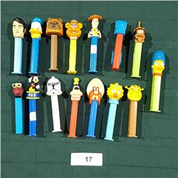 15 PEZ DISPENSERS