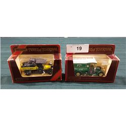 TWO VINTAGE MATCHBOX MODELS OF YESTER YEAR DIE CAST TRUCKS