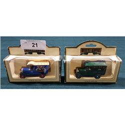 TWO VINTAGE DAYS GONE BY DIE CAST TRUCKS
