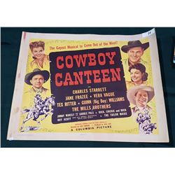 ORIGINAL 1944  COWBOY CANTEEN  MOVIE POSTER