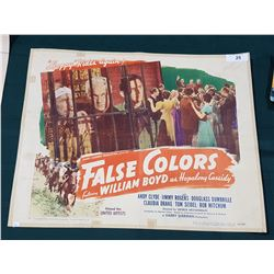 "ORIGINAL 1943 ""FALSE COLORS"" MOVIE POSTER"