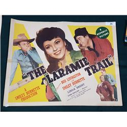 "ORIGINAL 1944 ""THE LARAMIE TRAIL"" MOVIE POSTER"