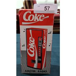 VINTAGE COCA COLA VENDING MACHINE AM/FM RADO