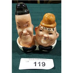 BESWICK LAUREL AND HARDY SALT AND PEPPER SHAKER SET