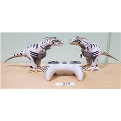 2 SMALL ROBORAPTOR ROBOTS WITH 1 CONTROLLER
